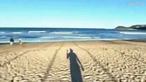 一面のビーチ!