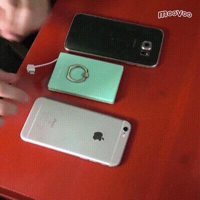 1台でiPhoneもAndroidも充電! モバイルバッテリー『バッテリング』