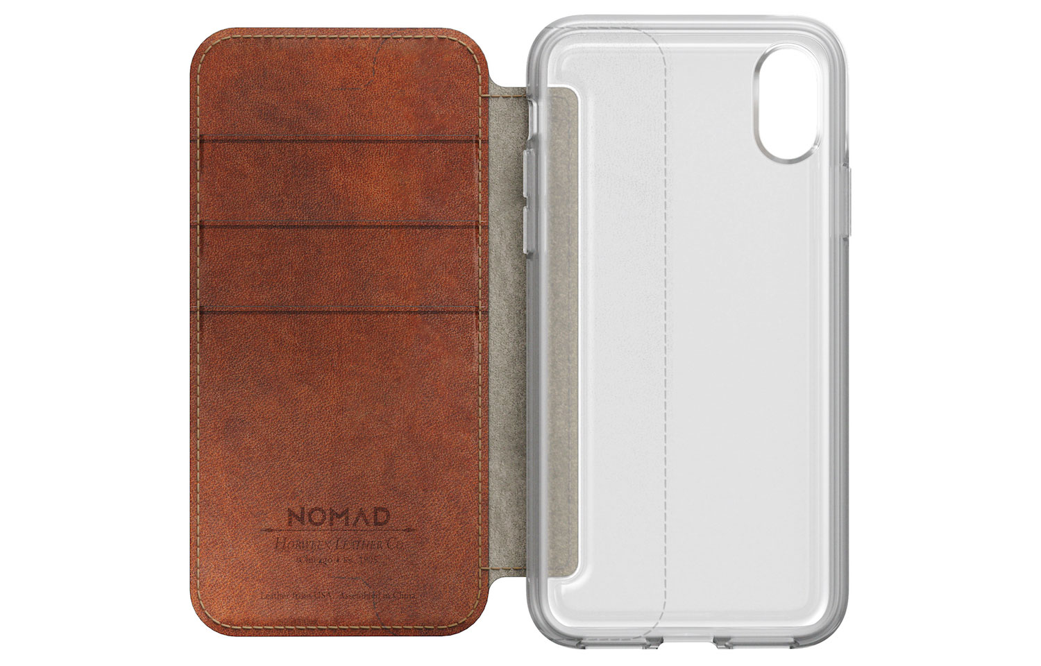 NOMAD CLEAR FOLIO for iPhoneXの図