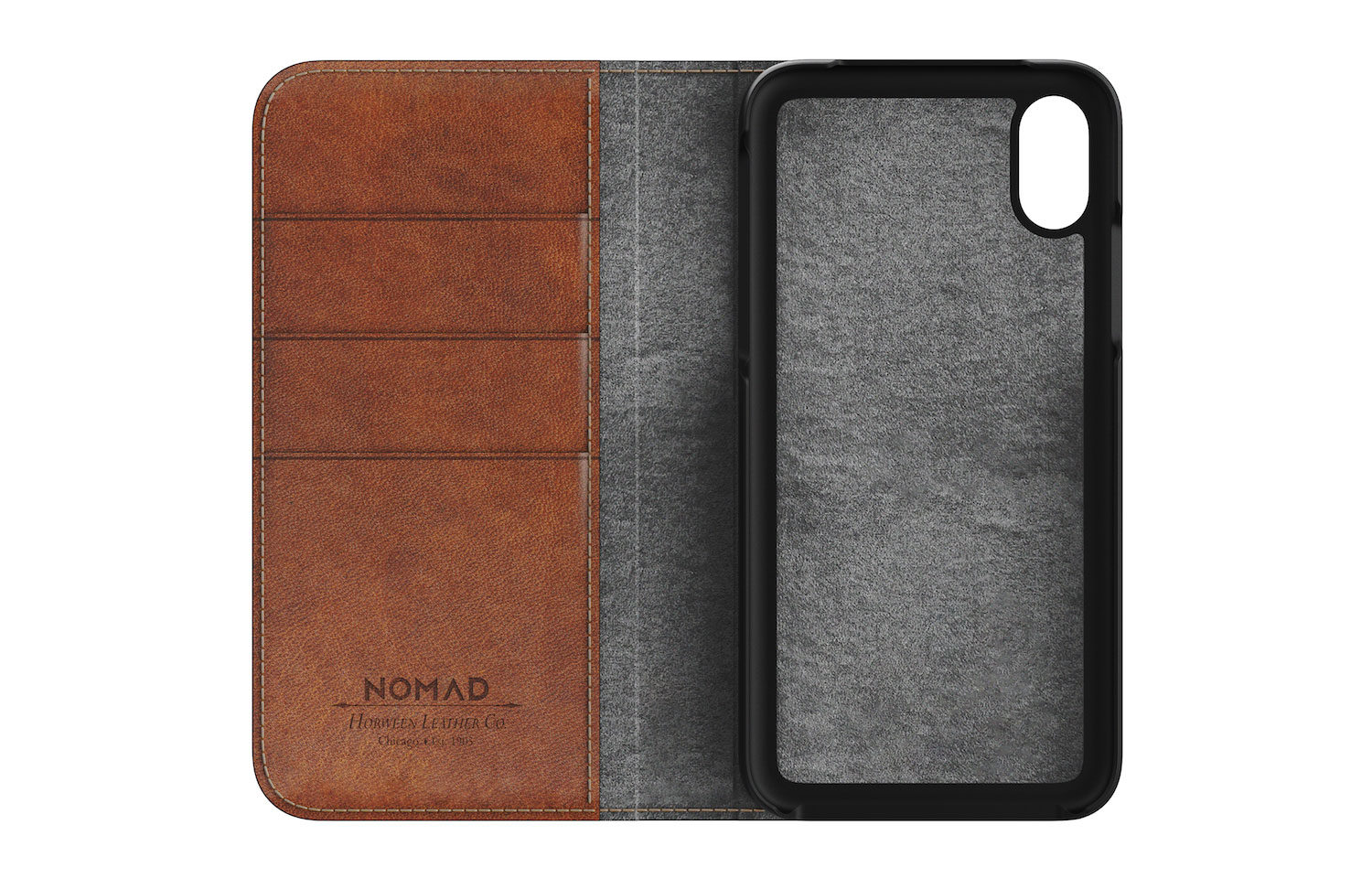 NOMAD LEATHER FOLIO for iPhoneXの図