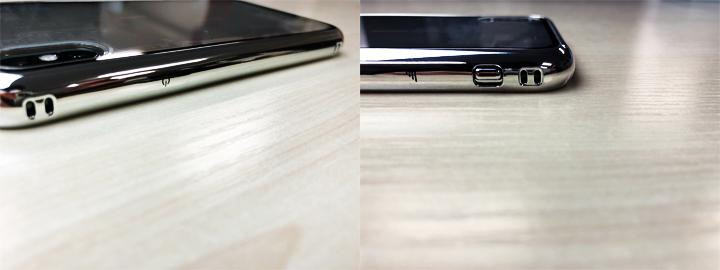 ボタン類はケースを装着することによって凹凸が無くなりフラット。見た目にもスッキリして気持ちがいい。