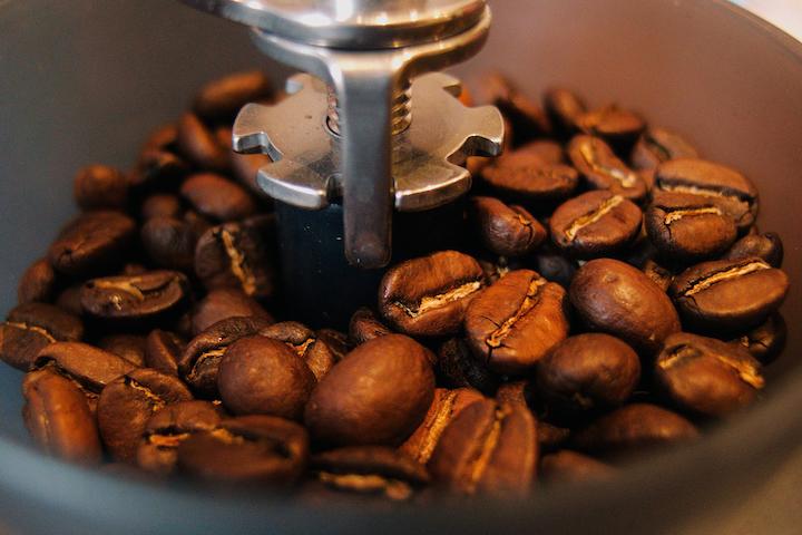 ミルの中に入っているコーヒー豆
