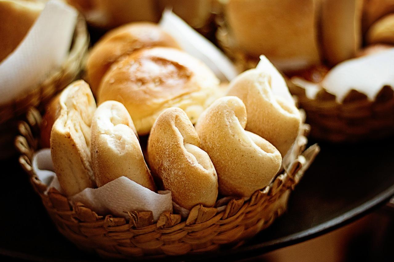 オーブントースターで焼いたパン