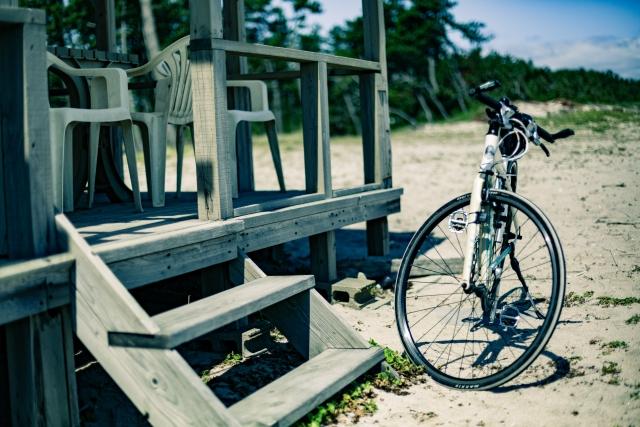 サイクリング風景の写真