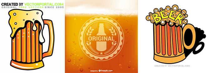 ビールの絵