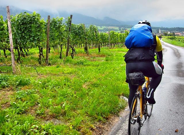 雨天時のサドルバッグの写真