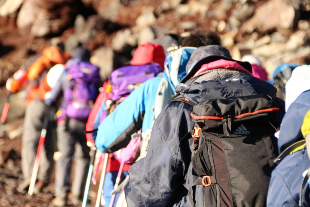 登山リュックの写真