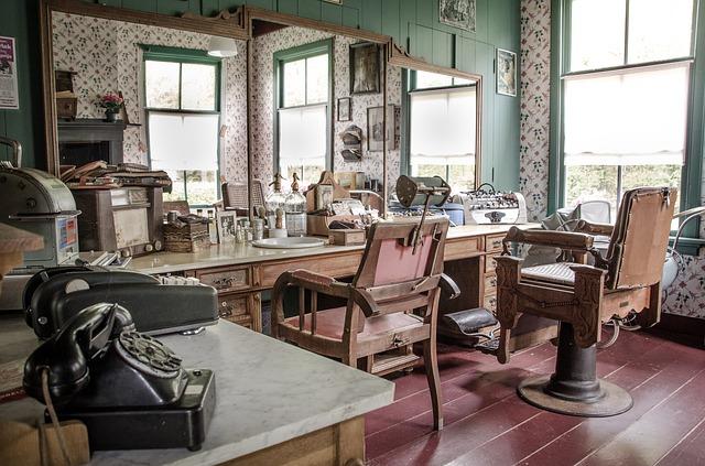 レトロな雰囲気の美容院