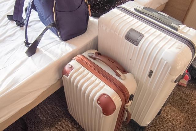 大型と小型2台のキャリーバッグの写真