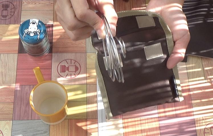 畳んだコーヒーバネット