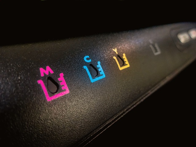 プリンターのインクの写真