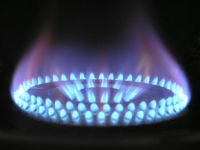 ガスバーナーの青い炎