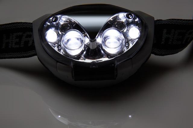シンプルなヘッドライト