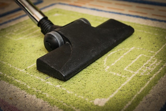 マットを掃除する掃除機