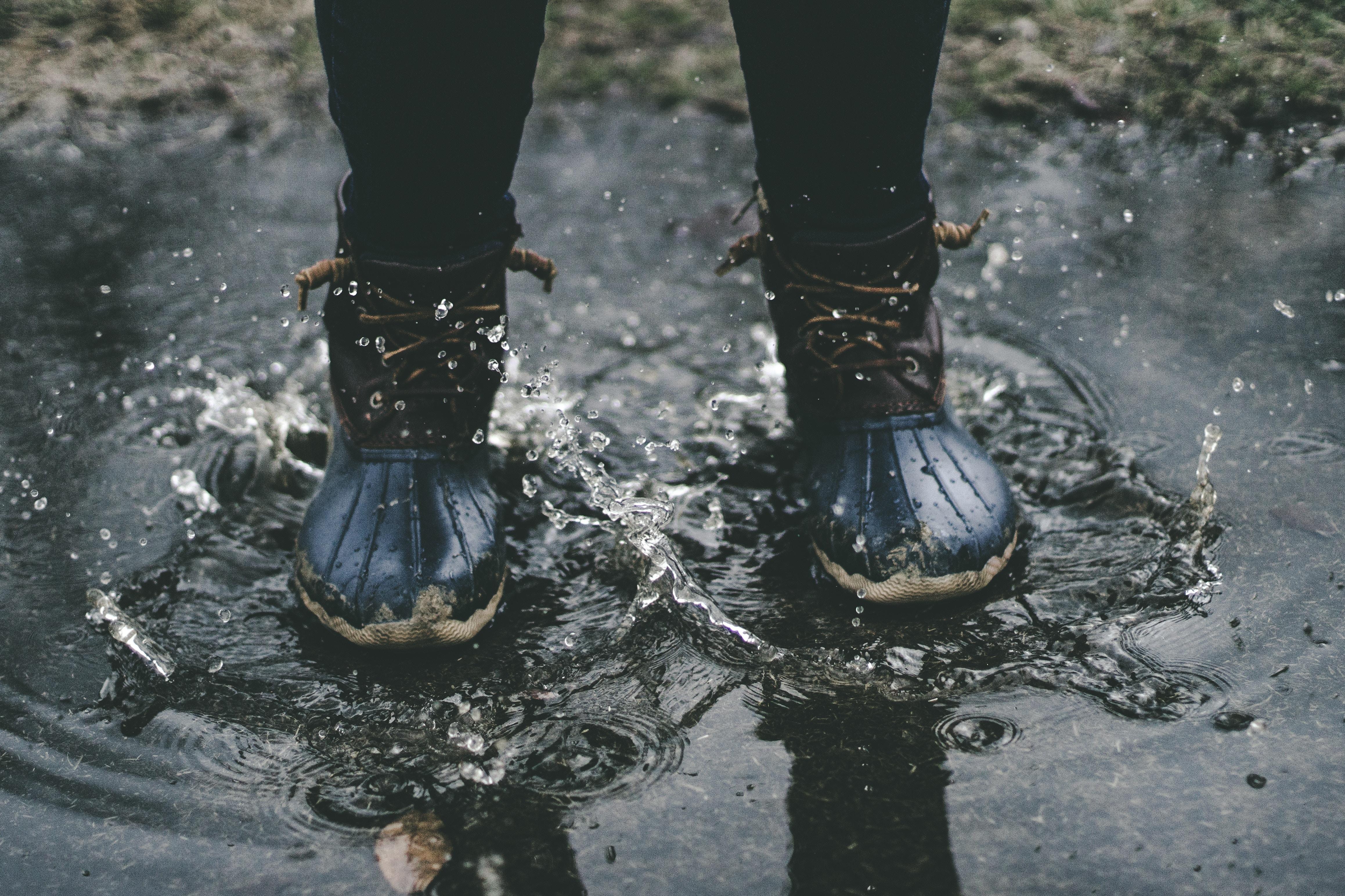 雨に負けない長靴