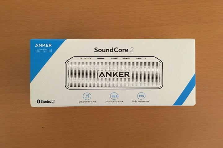 anker soundcore2のパッケージの画像