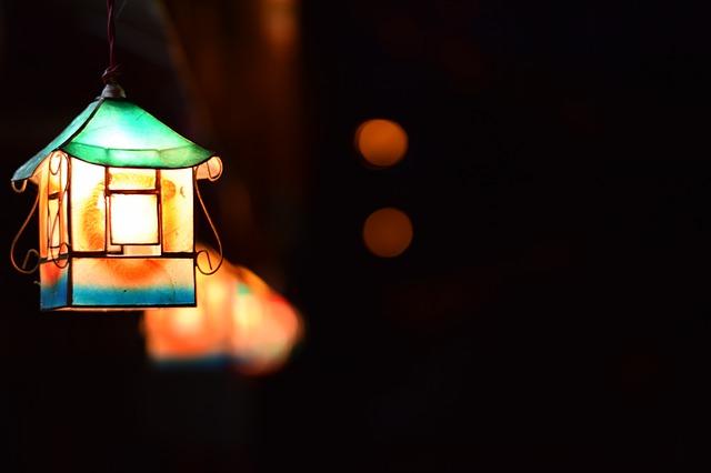 温かい光のランタン