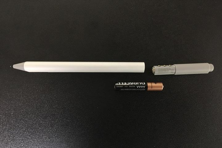 Surfaceペンの分解画像