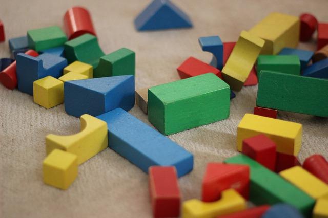 カラフルなブロックの写真