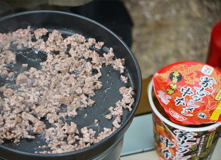 蒙古タンメンとひき肉