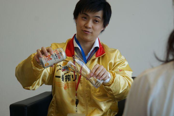 キリンビール株式会社一番搾りグローバルブランドマネージャーの鄭正(てい・せい)さん