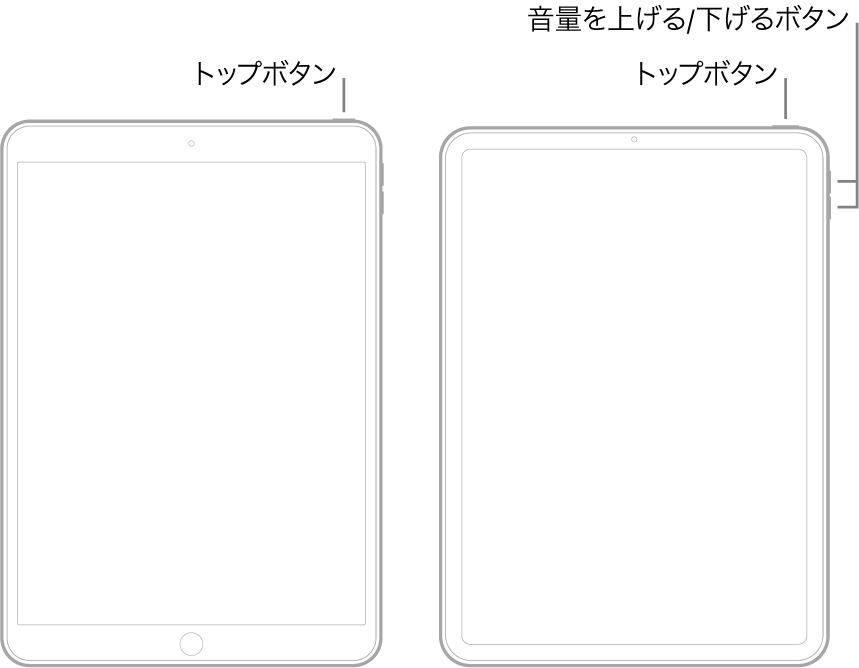 iPadの操作の画像