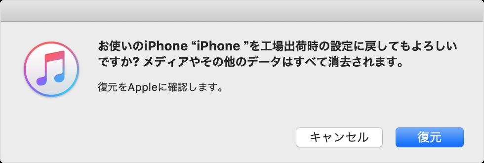 iTunesの表示の画像