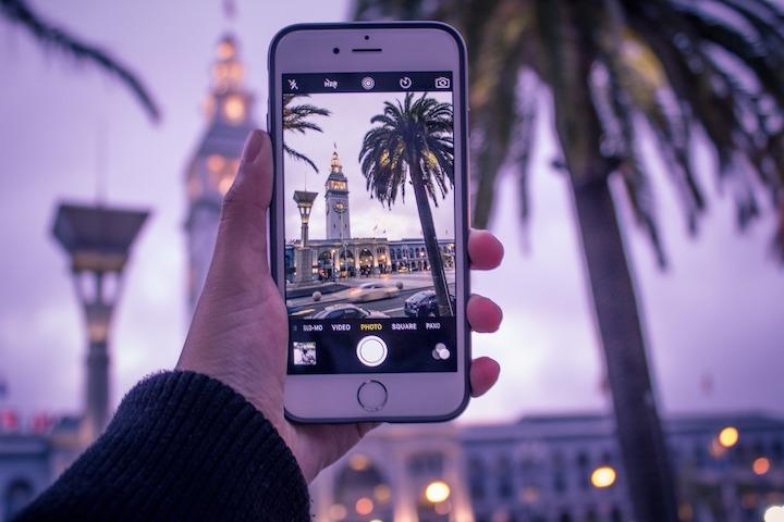iPhoneで景色を撮影