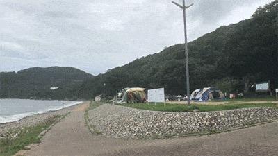 丸山県民サンビーチの海の目の前のサイト