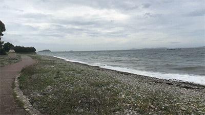 丸山県民サンビーチの海