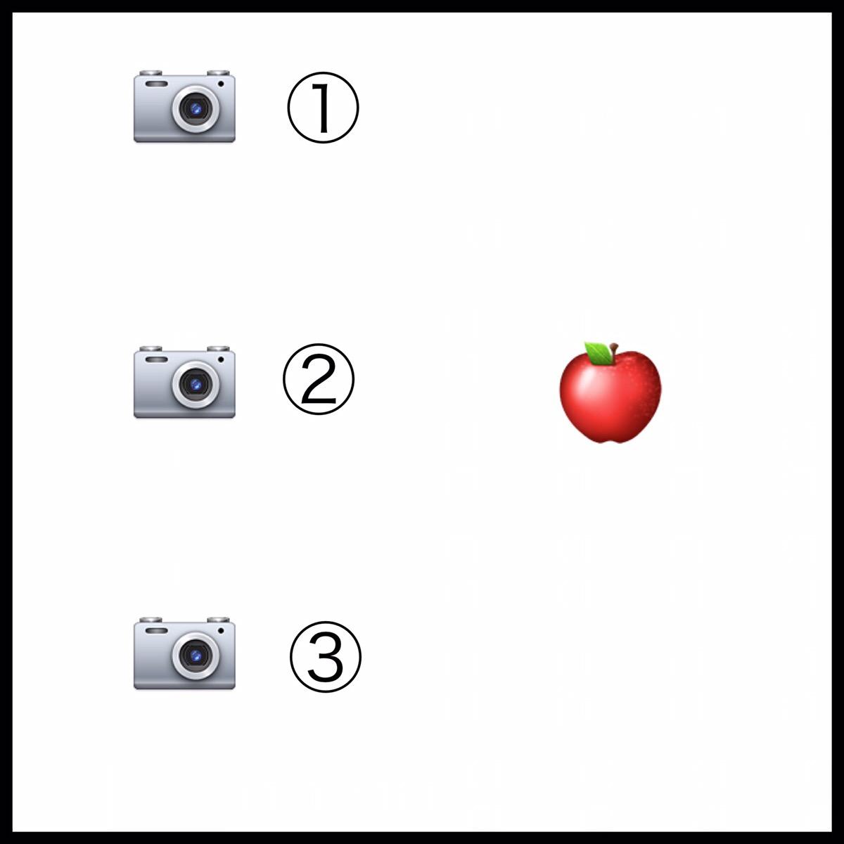 カメラアングルの図