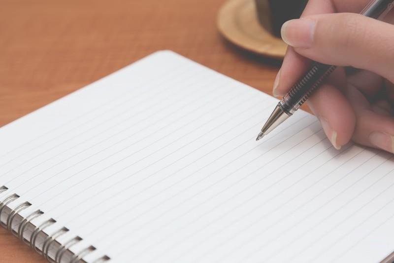 ボールペンとメモ