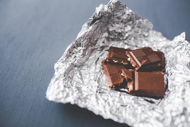チョコレートと銀紙