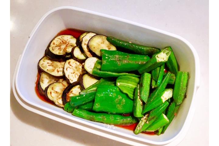 夏野菜のナムル風の写真