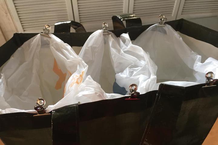 セリアで購入したゴミ袋をセット