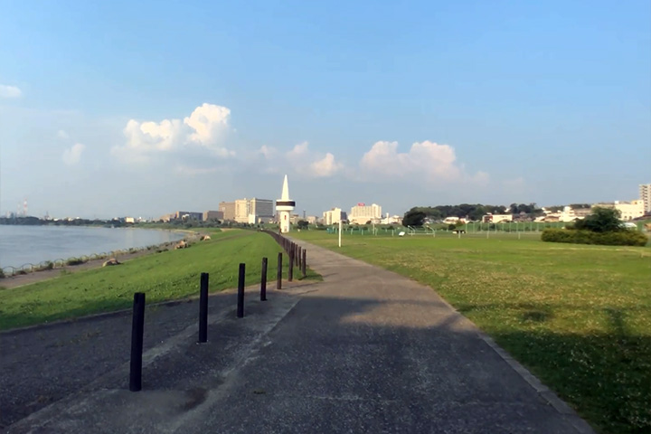 淀川河川公園<枚方地区>の景観