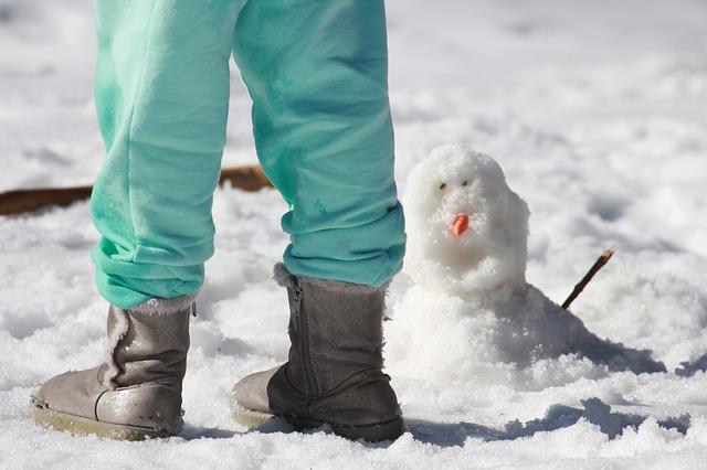 スノーブーツと雪景色