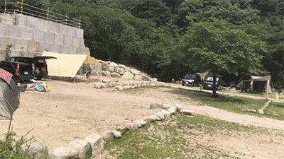 八風キャンプ場オート区画2