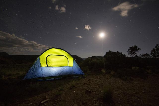 きれいな景色とテントの写真