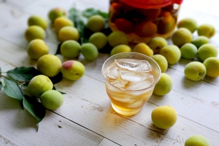 梅酒と梅の実