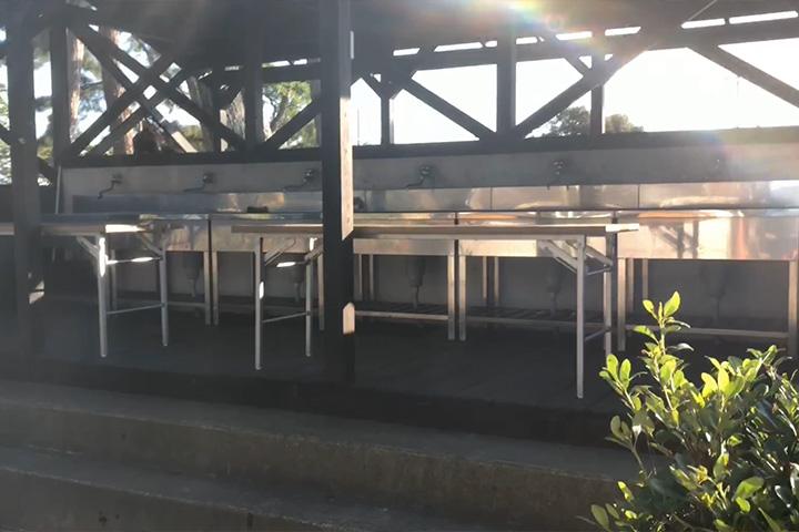 マイアミ浜オートキャンプ場の炊事場