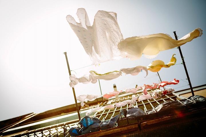 カーテン洗濯の写真