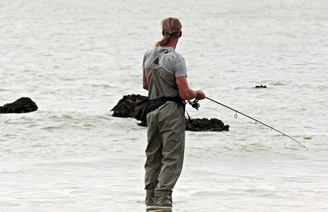 釣りを行っている画像