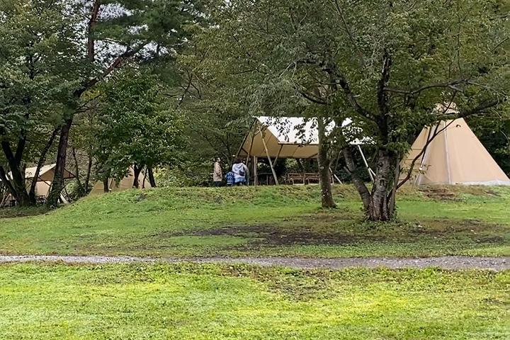 FBI大山の常設テント