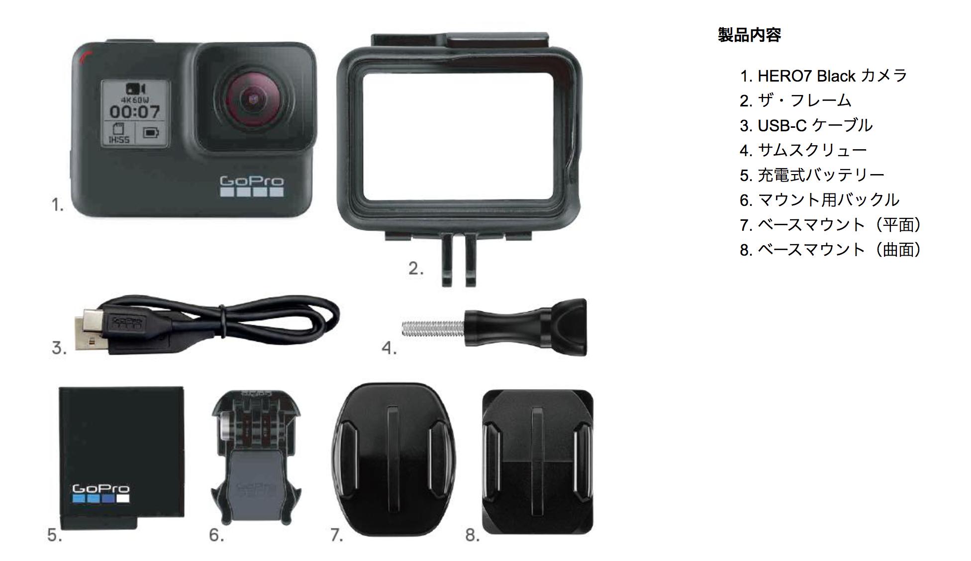 GoPro hero7 blackのセット