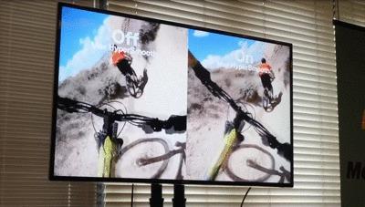 GoProMAX発表会のMaxHyperSmoothデモ映像GIF