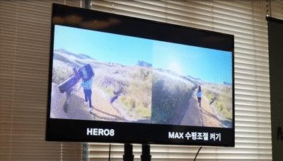 GoProMAX発表会のMaxHyperSmoothとHERO8の比較GIF