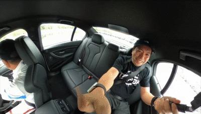 GoProMAXで撮影したドリフト体験中の運転手GIF