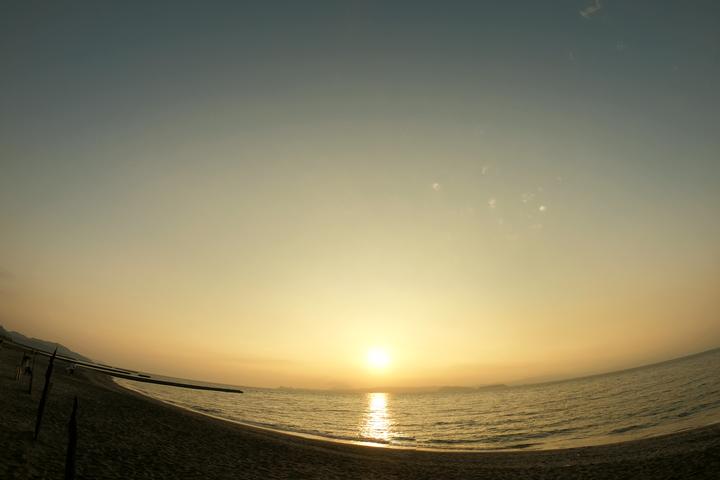 夕日の写真 撮影:ライター南谷有美