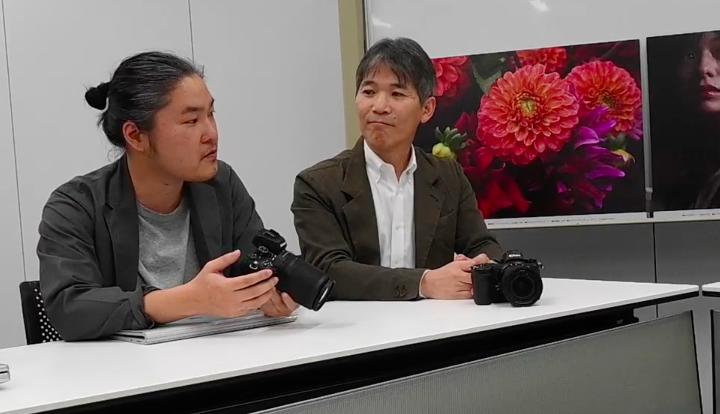 ニコンZ50開発の苦労を語るデザイン担当の浅野さん画像
